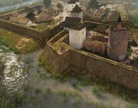 Szigetvár Castle 3D environment, rendering
