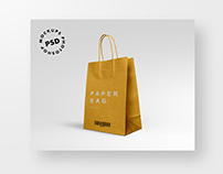 Free Download Paper Bag Mockups