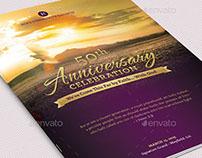 Church Anniversary Service Program Large Template