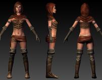Female Thief, Low rez version