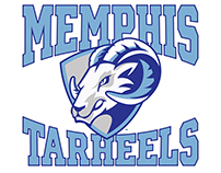 Memphis Tarheels AAU Youth Basketball Logo