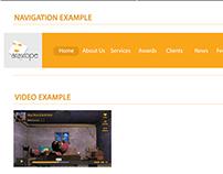 Arascope website mood board