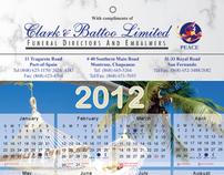 Clarke & Battoo Calender Design 2012