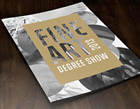 Fine Art Degree show catalogue