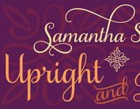 Samantha Script - Upright & Italic Typeface