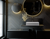 Black&Gold Bathroom/ 2019