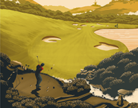 Mór Irish Gin golf posters & postcards