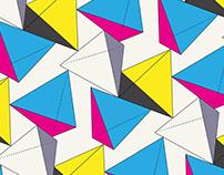Tetrahedron CMYK Pattern