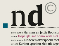 Nederlands Dagblad (restyling daily newspaper)