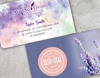 Young Living Business Card Pre-made Template