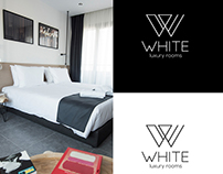 White Luxury rooms branding