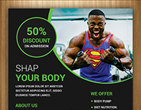 Free Gym and Fitness Flyer PSD Template