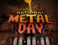 VH1 - National Metal Day Print Ad