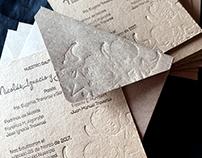 • Tarjeta recuerdo de bautismo en letterpress •