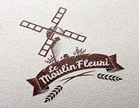 Logotype LE MOULIN FLEURI - Sofia Doudine Création