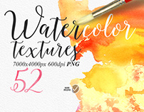 Watercolour textures PNG