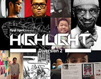 "Illustration Zine ""HIGHLIGHT"" Diversion 2"