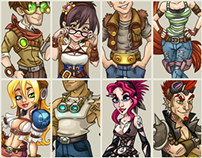 "Characters for steampunk ""Skyburg"" game"