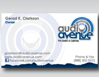 Business Cards for Audio Avenue