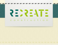 Identity and web design for RECREATE  therecreate.co.uk