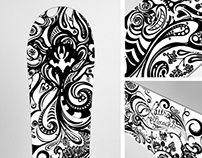 White Rabbit - Custom Snowboard Design/Illustration