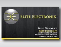 Elite Electronix Business Cards