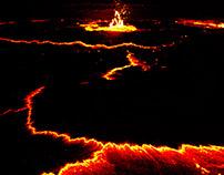 Volcano Erta Ale, Ethiopia