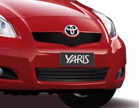 Voiture Toyota Yaris Vectorielle