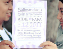 Invitation Card : Aidie & Fafa