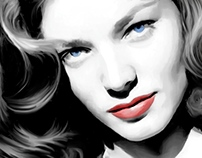 Lauren Bacall Large Size Portrait #2