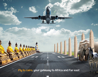 Egypt air - your gate way to asia and africa
