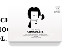 Take it easy-Chocolate package