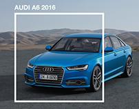 Audi A6 2016 - Landing Page Design
