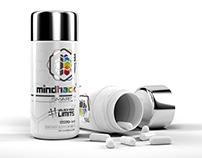 Mindhack® 3D pill bottle design