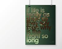 M.Ward - Chinese Translation - Poster Design