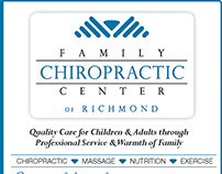 Advertisement for Family Chiropractic Center