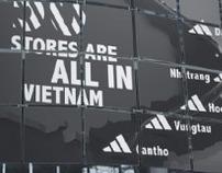 Adidas. Vietnam Map.