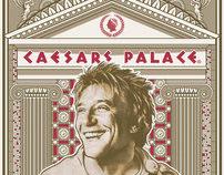 """Rod Stewart """"Vegas Show 2011 Poster"""""""