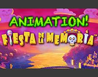 """Animation for the """"Fiesta De La Memoria"""" slot game"""