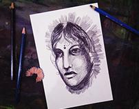 Village Queen - Pencil Drawing