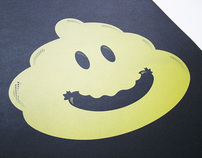 BERLIN SMILEY - Screenprint