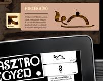 Gasztro Negyed iPad GUI