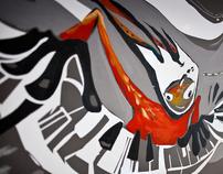 Wall illustration for Lenovo shop