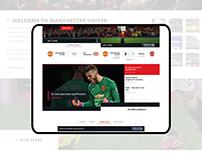 Manchester United website redesign