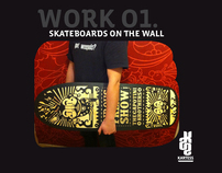 "kartess ""skateboards on the wall"""