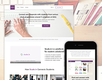 Stude.in - landing page design