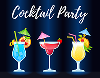 Cocktail party – stickerpack for mountpic messenger