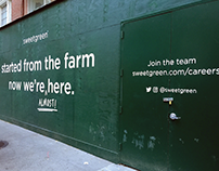 Hand painted sign for new Sweetgreen location (NYC)