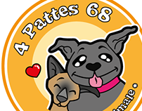 "Logo for "" 4 Pattes 68 """