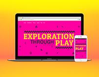Exploration Through Play - Web Design